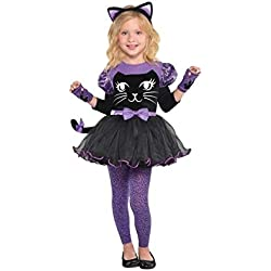 Disfraz de gato de Miss Meow de Amscan, para niñas (3-4), multicolor
