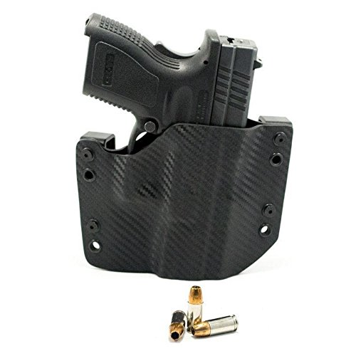 OWB Holster - Black Carbon Fiber (Right-Hand, HK USP Compact - 9/40)