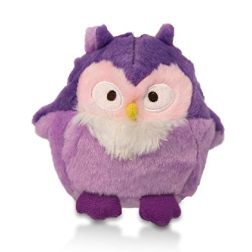 Charming Pet Howling Hoots Squeaky Owl Dog Toy – Tough and Durable Interactive Soft Plush Dog Ball Toy, Blue