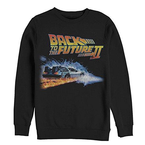 Fifth Sun Back to The Future Men's Part 2 Electric Delorean Black Sweatshirt ()