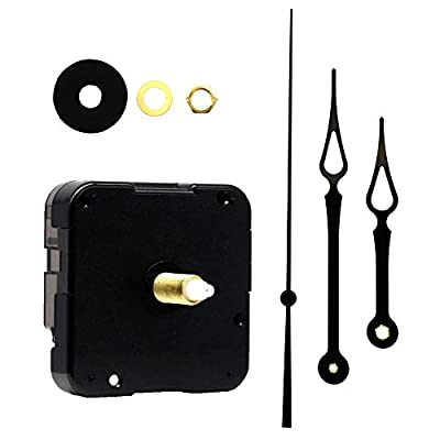 Youngtown 12888 Quartz DIY Wall Clock Movement Mechanism Repair Parts Replacement Kit Sweep Silent Movement,13mm (1/2 Inch ) Maximum Dial Thickness, 23mm (29/32 Inch ) Total Shaft Length.