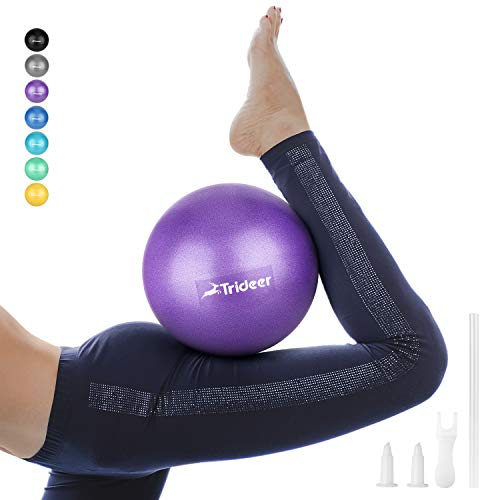 Trideer Pilates Ball, Barre Ball, Mini Exercise Ball, 9 Inch Small Bender Ball, Pilates, Yoga, Core Training and Physical Therapy, Improves Balance (Home & Gym & Office) ()