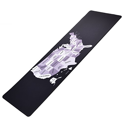 ifrmmy Cloth Gaming Mouse Pad XXL Large Size (36.6x11.8x0.12in) with Non-Slip Rubber Base - Black