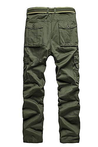 Aire Fashion Hombres Color Otoño Ocio Long Grün Libre Mens Carga Woodland Pantalones Ropa Trekking Sólido Al Saoye De Militares wtqdH7H