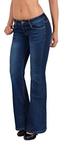 by-tex Jean femme bootcut Jean taille basse pantalon Boot Cut BB Typ-j72