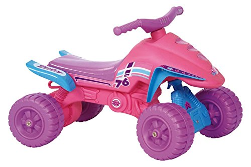 POCO DIVO Pink Ride-on ATV Low-seat Toddler Indoor/Outdoor Scooter Princess Riding Toy...