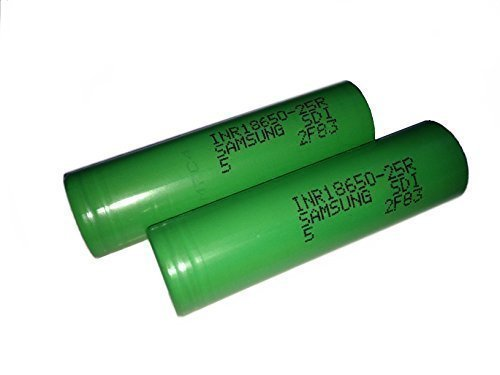 Samsung INR18650-25R Lithium Ion Li-Ion Rechargeable Flat Top 2500mAh,3.6V Batteries Pack of 2 (Green assorted)  samsung inr18650-25r | Samsung INR 18650-25R Battery – MyFreedomSmokes 41rhOqeep8L