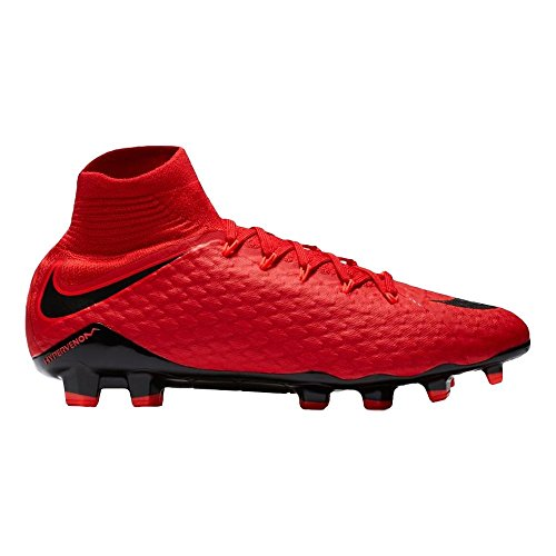 NIKE Men's Hypervenom Phatal Dynamic Fit Collar II FG Soccer Cleat (SZ. 9) Red