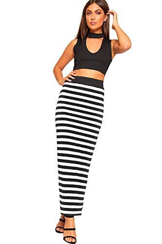 WearAll - Femmes Multi Imprimer lastique lev Taille tendue Maxi Longue Jupe Dames Nouveau - 36-48 Ray