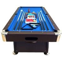 TAVOLO DA BILIARDO 8 piedi - misura di gioco 220 x 110 cm + ACCESSORI PER CARAMBOLA - SNOOKER VERDE billiard table Modello Vintage Blu