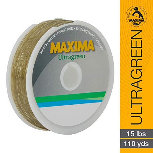 - Maxima Fishing Line Mini Pack, Ultragreen, 15-Pound/110-Yard