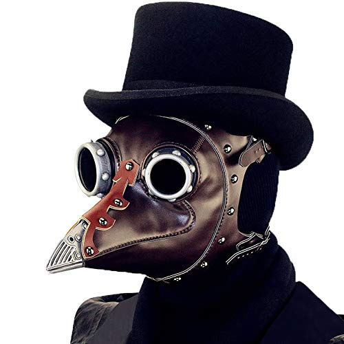 ROZKITCH Version Plague Doctor Bird Head Mask Long Nose Steampunk Mask Halloween Costume, hat not Included