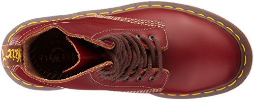 Dr Martens 1460 Smooth Stivaletti Unisex-adulto Rosso