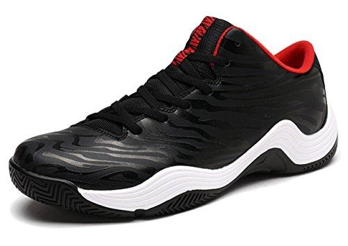 Samurai JP Basketball Shoes for Men (Red/Black Tiger, Zebra) Performance Sports Training Sneaker (US 9 (27cm), Black Tiger) with Original Drawstring Bag