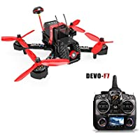Walkera Furious 215 215mm F3 5.8G 600TVL Camera 8CH RTF Multirotor RC Toys FPV Racing Drone with DEVO F7 Transmitter (FPV Version)