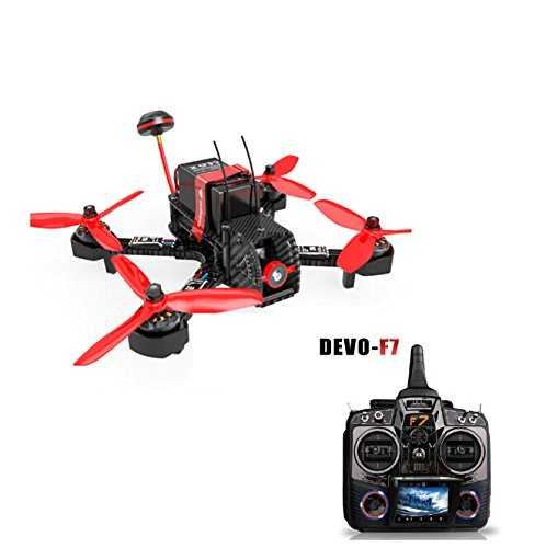 Walkera Furious 215 215mm F3 5.8G 600TVL Camera 8CH BNF Multirotor RC Toys FPV Racing Drone (with DEVO F7 Transmitter)