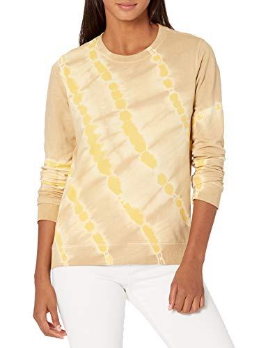 Lucky Brand Women's Long Sleeve Crew Neck Tie Dye Pullover Sweatshirt