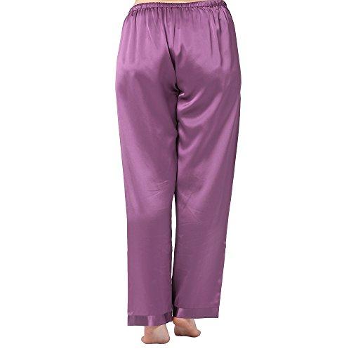 Lilysilk Pijama Mujer De Seda Estilo Clásico 100% Seda De Mora Natural De 22 Momme Violeta