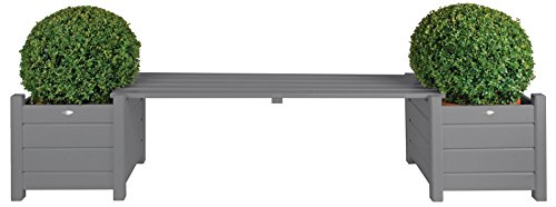 Cheap  Esschert Design Planters with Bridge Bench, Gray