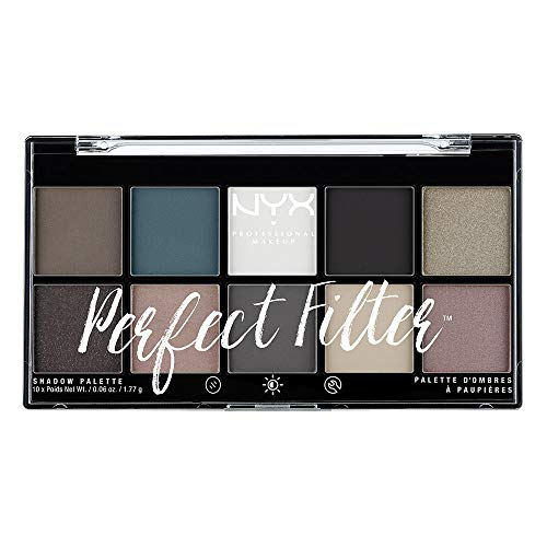 (NYX PROFESSIONAL MAKEUP Perfect Filter Shadow Palette, Gloomy Days, 0.6 Ounce)