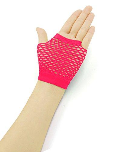uxcell 指なし手袋 伸縮性 フィンガーレス フィッシュネット ファッション グローブ