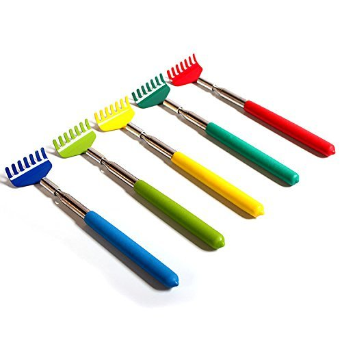 Bhbuy 5 Pack Telescoping Back Scratcher Retractable Scratcher Extendable Massager Tools Random Color -
