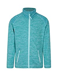 Mountain Warehouse Snowdonia Kids Fleece Jacket - Soft Touch Pullover Teal 9-10 years