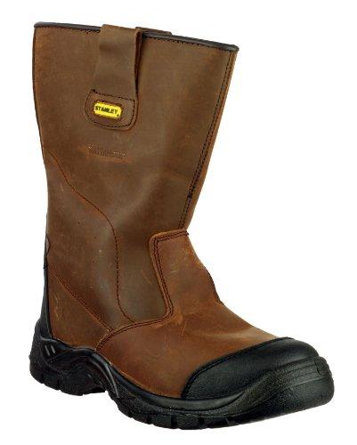 Stanley ASHLAND S3-W/P Gréeurs sécurité Hommes Bottes Hautes Cuir Brun Chaussures