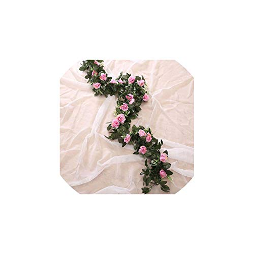 3Pc 240Cm Artificial Flower Silk Flowers Rose Leaf Garland Vine Ivy Wedding Flower Garden Halloween Christmas -