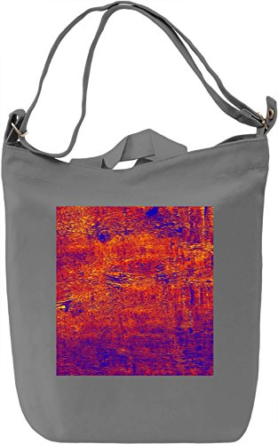 Red Print Borsa Giornaliera Canvas Canvas Day Bag| 100% Premium Cotton Canvas| DTG Printing|
