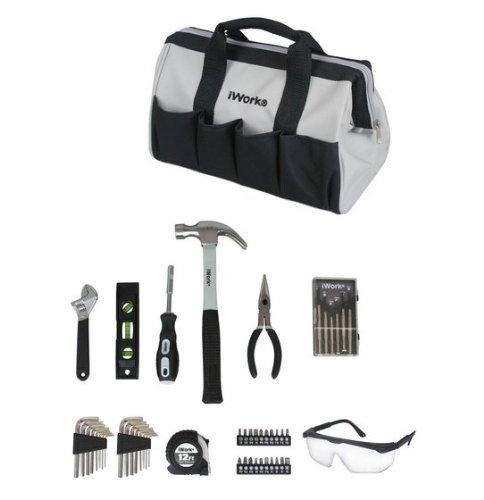 iWork 50 pc. Grey/Black Home Tool Set by iWork