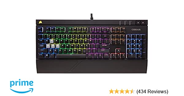77e4e081e99 Amazon.com: CORSAIR Strafe Mechanical Gaming Keyboard - Red LED Backlit -  USB Passthrough - Linear and Quiet - Cherry MX Red Switch: Computers &  Accessories