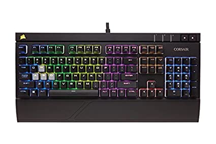 d945dc09ac7 Corsair Gaming Strafe RGB Mechanical Gaming Keyboard, Backlit Multicolor  LED, Cherry MX RED (