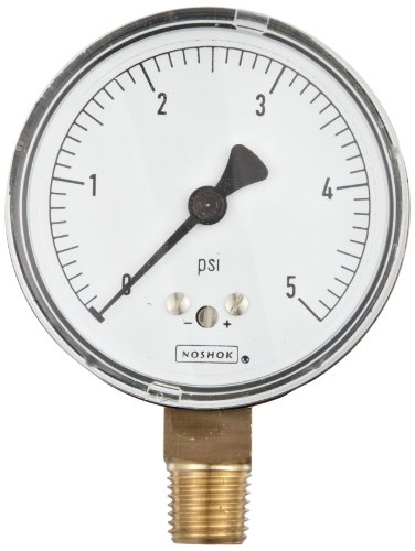 noshok-200-series-steel-dry-dial-indicating-low-pressure-diaphragm-gauge-with-bottom-mount-2-1-2-dia