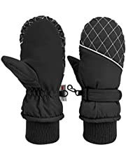 HusDow Ski Mittens Kids, 3M Thinsulate Extra Warm Winter Gloves, Waterproof Windproof Ski Mitts Breathable and Comfortable for Children