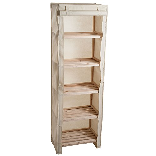 Lavish Home Wood Shelf With Removable Cover