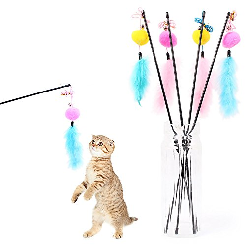 Pet Rats In Costumes (Kanzd Kitten Cat Teaser Interactive Toy Rod with Bell and Feather (Random Color))