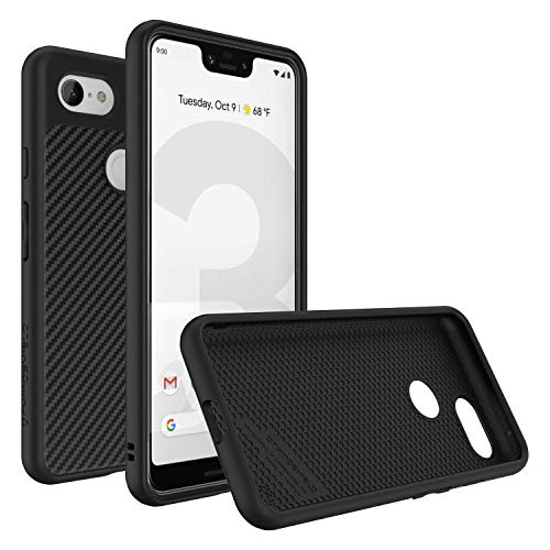 RhinoShield Case for Google Pixel 3 XL [SolidSuit] | Shock Absorbent Slim Design Protective Cover with Premium Matte Finish [3.5M/11ft Drop Protection] - Carbon Fiber Texture
