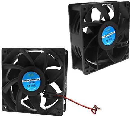 Creative-Idea 2pcs Ventilador de refrigeración DC Motor 2Pin ...