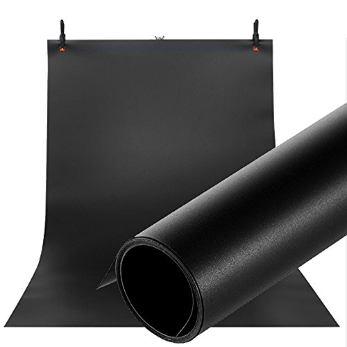Selens 100X200CM 40X80INCH Photography Backdrop Matte PVC Background Black (Best Background For Jewelry Photography)