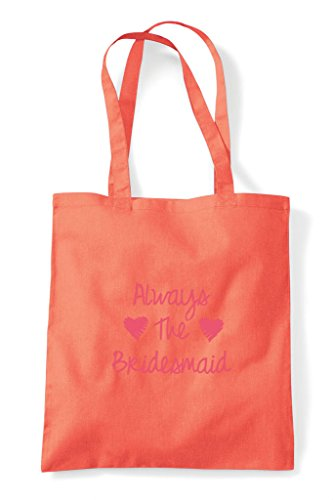 Hen Bag Party Bridesmaid Customised Tote Do Shopper Always Coral Personalised The 7R76nqrx