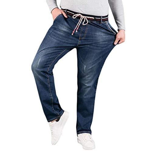 HX fashion Pantalones Elásticos para Hombres Jeans Ajustados Pantalones Pitillo Tamaños Cómodos Ajustados Bermuda Pantalones Vaqueros para Hombre Ssig Pantalones Vaqueros Ajustados Ropa Blau