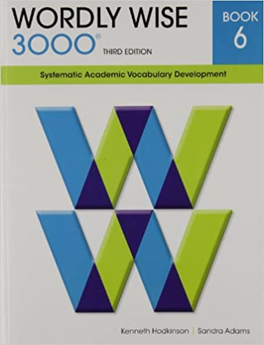 Wordly Wise 3000 Book 6 Systematic Academic Vocabulary