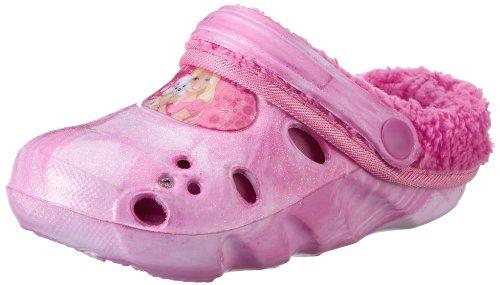 Barbie girls kids clog sandals & mules BA450038, Mädchen Clogs & Pantoletten, Mehrfarbig (PINK FUXIA/FUXIA), EU 27
