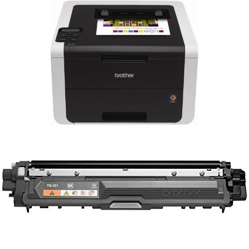 Brother HL3170CDW Wireless Color Printer and Brother TN221BK Standard Yield Black Toner Cartridge by Brother (Image #1)