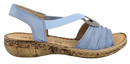 Spring Step Womens Karmel Denim Leather Sandal - 38 (Sandals Spring Step Denim)