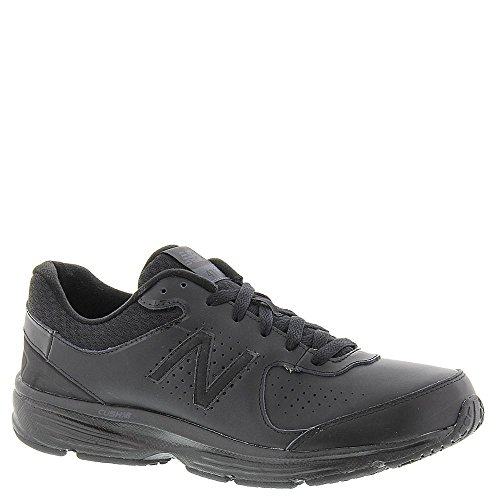 New Balance Men's MW411v2 Walking Shoe, Black, 9 2E US