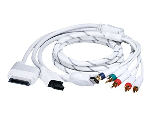 Monoprice 6FT 4 in 1 Component Cable for Xbox 360, Wii, PS3 and PS2 (Ps3 Cable Component Video)