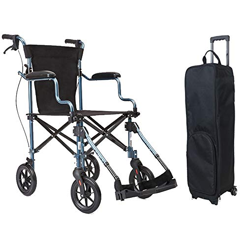 Sillas de Ruedas Drive Medical Lightweight Steel Transport Silla de Ruedas Ultraligera Silla de Ruedas Plegable Pequeño Portátil Light Old Man Simpl