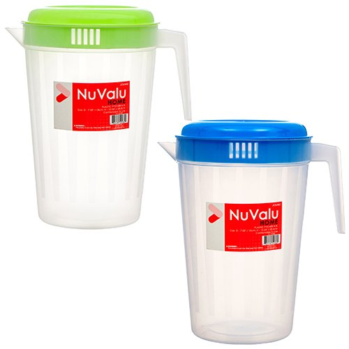 - Wholesale NUVALU PITCHER 4.5L CLEAR W/ASST LID COLORS